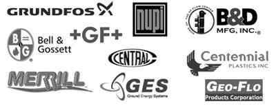 B & D Mfg. Inc., Geo-Flo Products Corp, Centennial Plastics, Central Plastics, Grundfos, K-Flex, Armacell, Nupi, Merrill Manufacturing, and Ideal